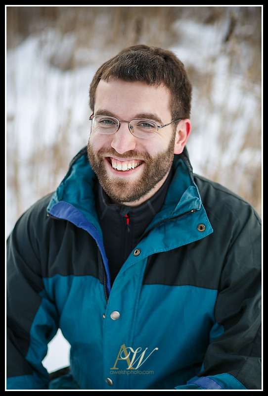 headshot portrait photography Rochester NY Andrew Welsh Henrietta outdoor winter snow