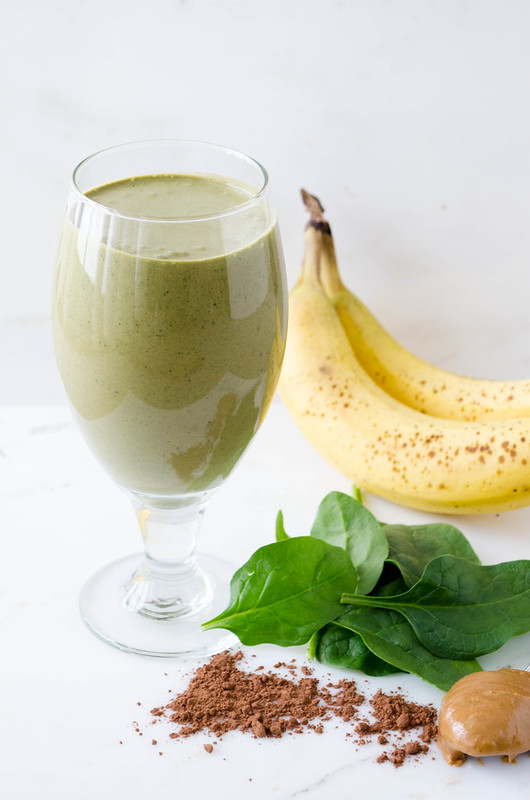 Chocolate Peanut Butter Green Smoothie