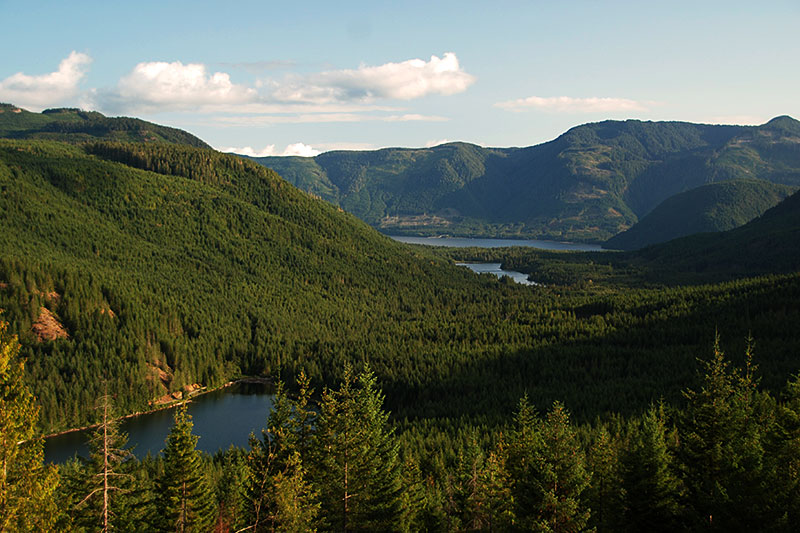Lois Lake north of Port Alberni in the Alberni Valley, Vancouver Island, British Columbia