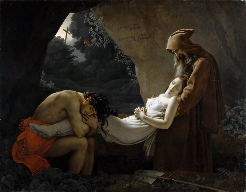 Anne-Louis Girodet de Roussy-Trioson - The Entombment of Atala (c.1808)