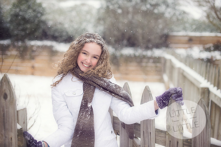 Gracyn Snow Day