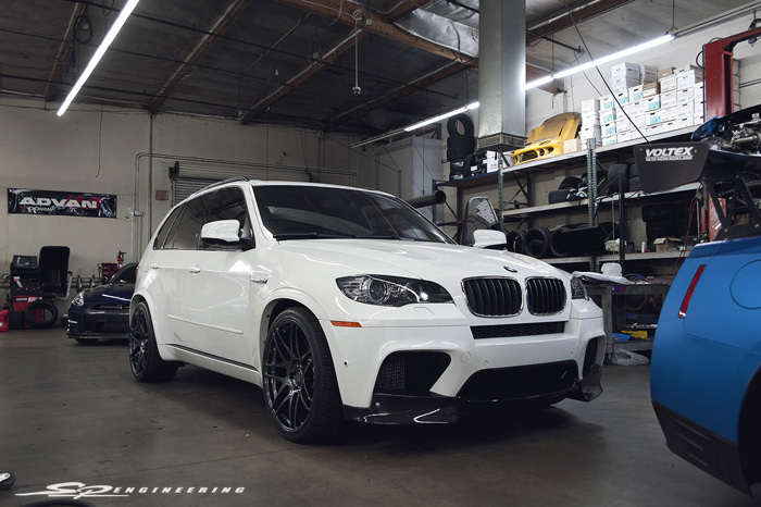 Alpine White X5 M Receives Bolt On's
