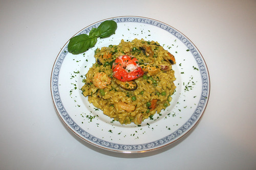 40 - Meeresfrüchte-Risotto - Serviert / Seefood risotto - served