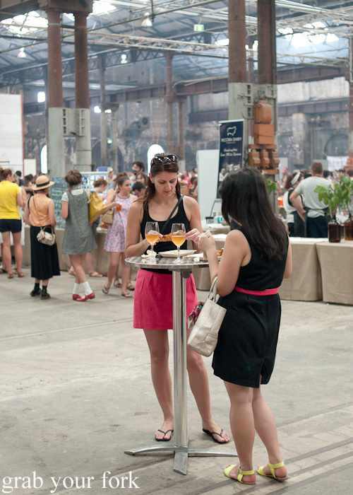 Sipping and eating at the Sunday Marketplace, Rootstock Sydney 2014