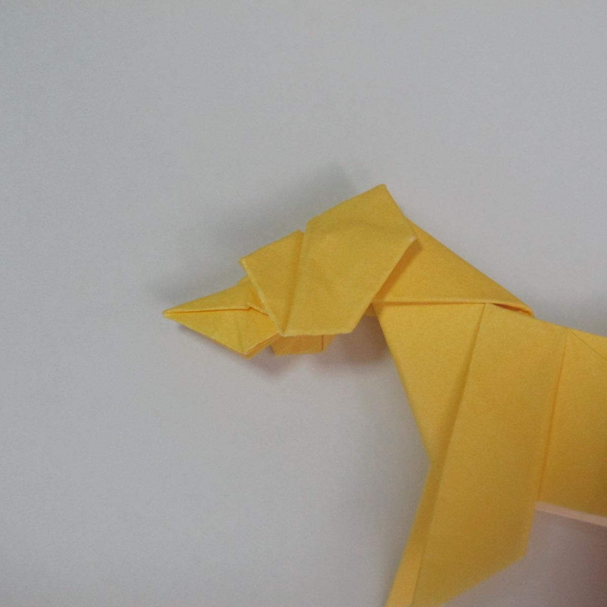 สอนวิธีพับกระดาษเป็นรูปลูกสุนัขยืนสองขา แบบของพอล ฟราสโก้ (Down Boy Dog Origami) 101
