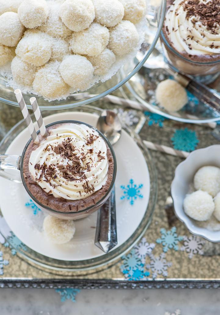 Coconut Snowball Truffles Frozen Hot Chocolate www.pineappleandcoconut.com