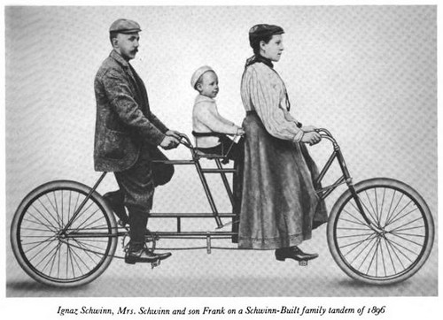 Schwinn Family On Bike