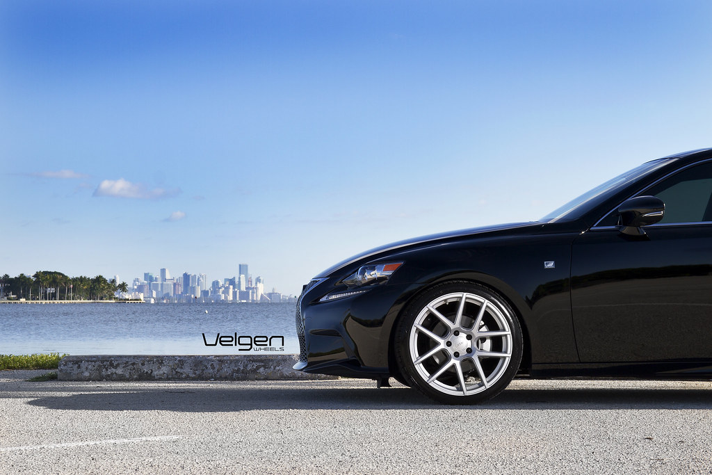 LEXUS IS250 F SPORT ON VELGEN WHEELS VMB5 MATTE SILVER