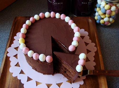 Malted Chocolate Buttermilk Cake