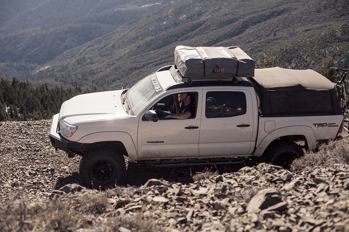 and over the bed with a custom bed rack from bamf. : tacoma short bed tent - memphite.com