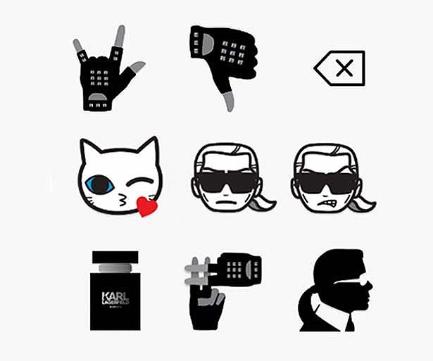 Lagerfeld-Emoticons