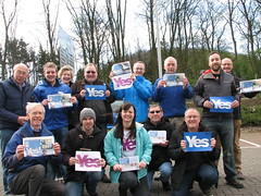 Yes volunteers in Dalgety Bay, April 2014