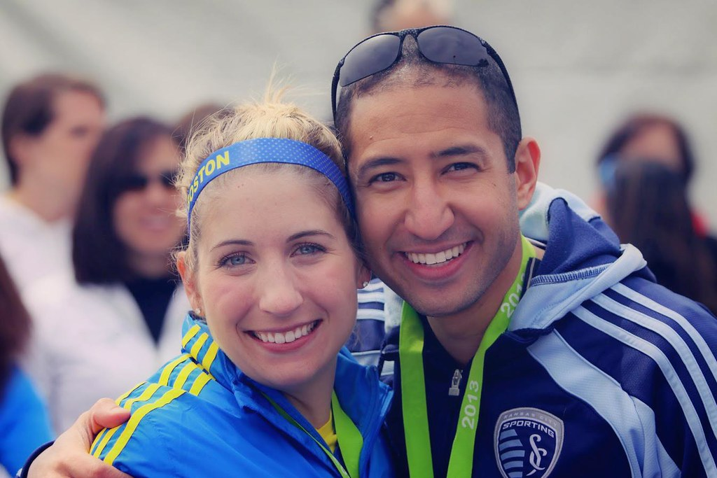 Ali and Ramsey at the Boston Marathon - 2013
