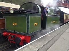 Lambton 29 arriving into Goathland (26/4/2014)