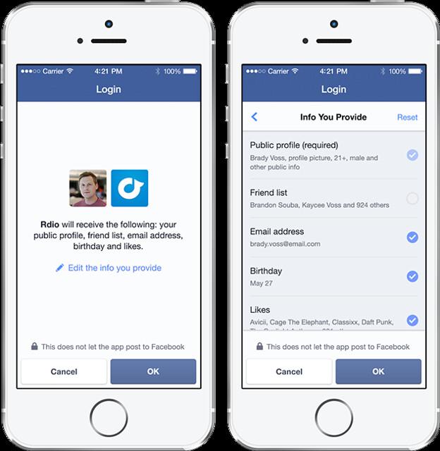새로운 페이스북 로그인