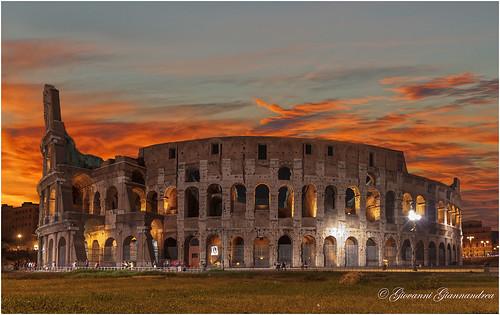sunset sky rome roma italia tramonto lazio ilobsterit