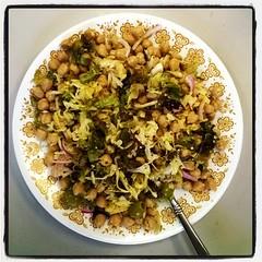 Vegan eats! Chickpeas, grated jicama, onion, olives, lettuce, hemp seeds, hemp oil, apple cider vinegar #vegan #glutenfree