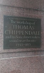 Photo of Thomas Chippendale and Thomas Chippendale Jnr brass plaque