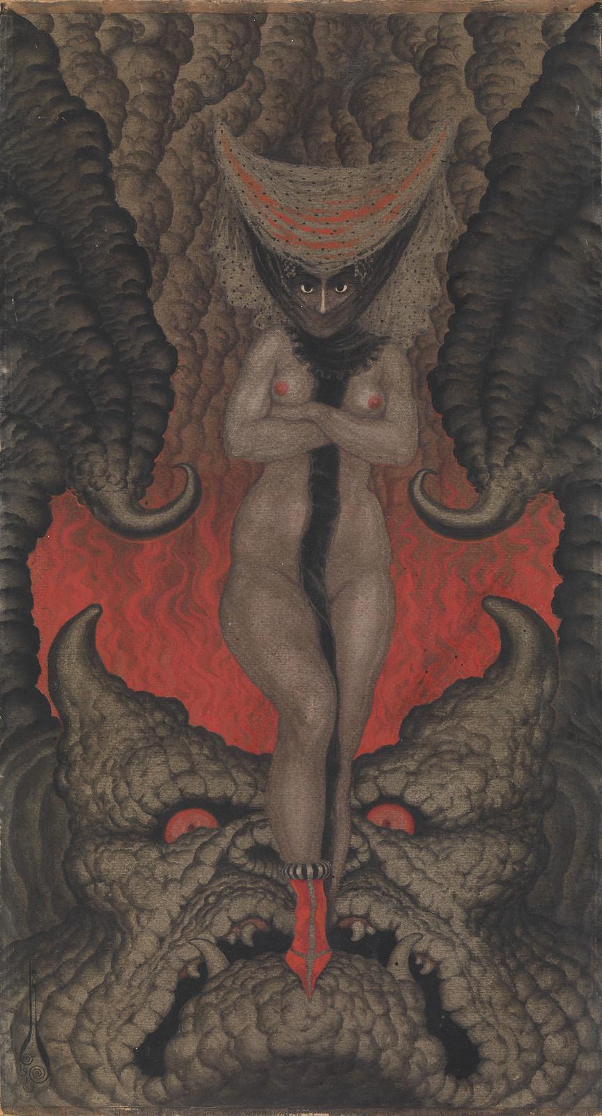 Nikolai Kalmakov - La Femme de Satan, 1919