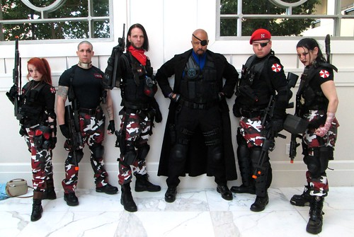Umbrella Corp. Red-Ops  Team and Nick Fury