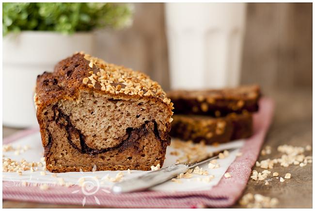 Bananų duona su žemės riešutų sviesto ir šokolado sluoksneliu (5)