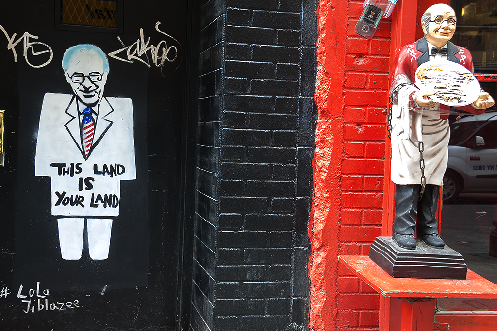 Bernie Sanders image with THIS LAND IS YOUR LAND--Lower East Side