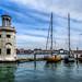 Small lighthouse and sailboats in Venice