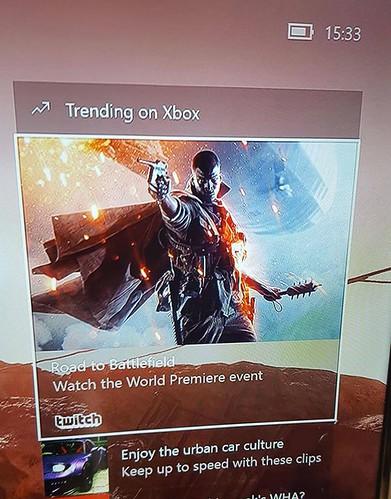 バトルフィールド1 Xbox One ダッシュボード