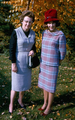 1964-Winifred Nill and Sharon Nill wearing suit she made Wheaton IL