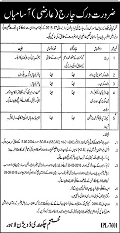 Local Government Lahore Punjab Basic Scale Jobs
