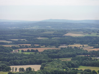 South Downs with Chanctonbury Ring, from Temple Of The Winds Viewpoint