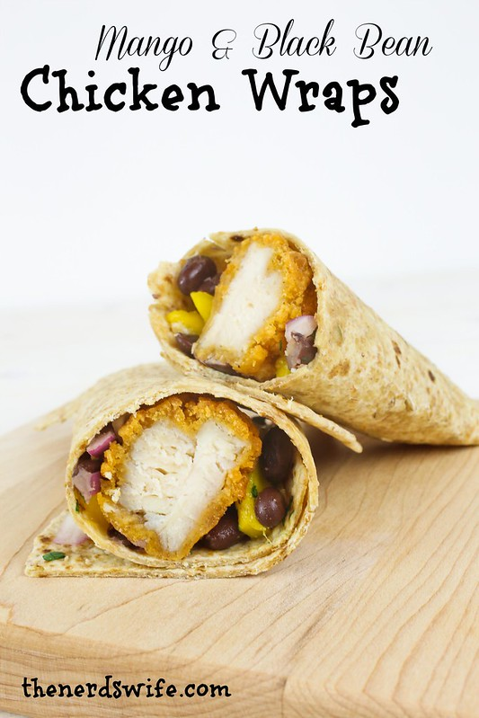 Mango and Black Bean Chicken Wraps-005