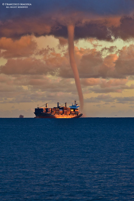 Sudden waterspout on the gulf of Genoa, part II