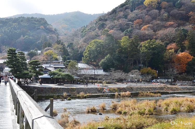 [日本。嵐山]渡月橋。如畫詩境的晴、雨、雪
