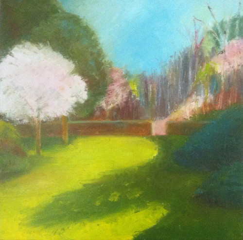First of May at Long Hill (Oil Bar Painting as of May 23, 2013) by randubnick