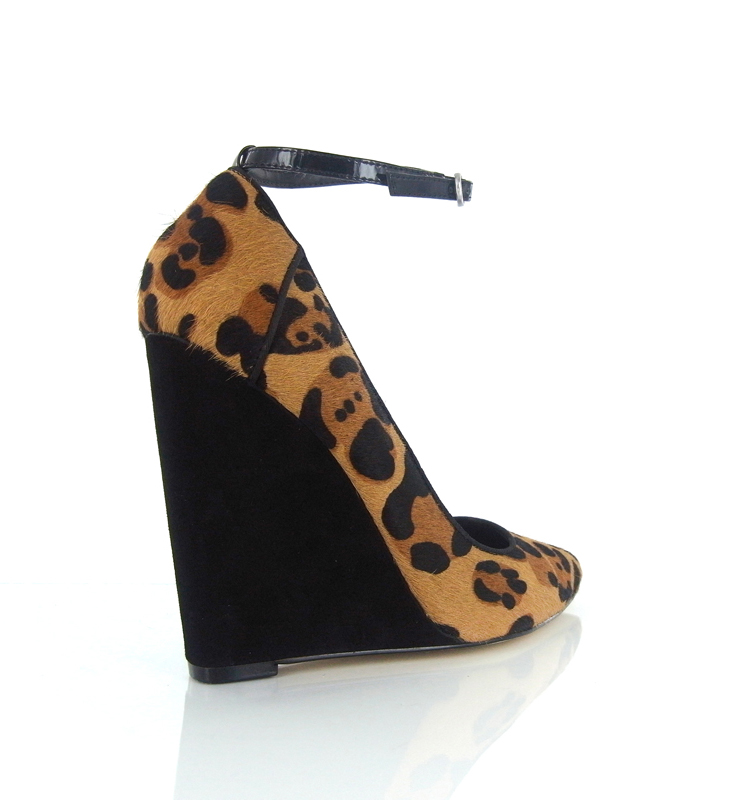 RMK PROVOCATOR Leopard Ponyhair Wedges