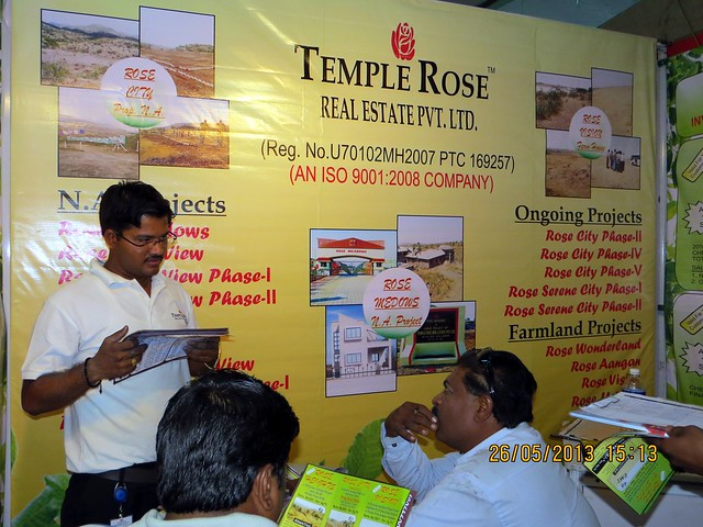 Rahul Khote - Temple Rose Real Estate - Proposed N A Plots Pune - Visit Sakal Agrowon Green Home Expo, 25th and 26th May, 2013