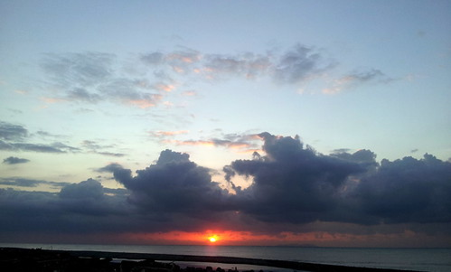 sunset day cloudy 海 20121005