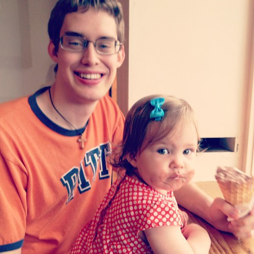Her ice cream date.