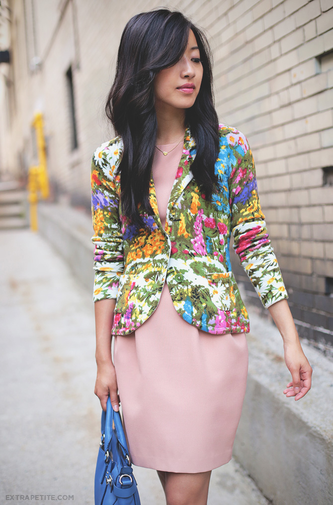 anthropologie petite floral jacket
