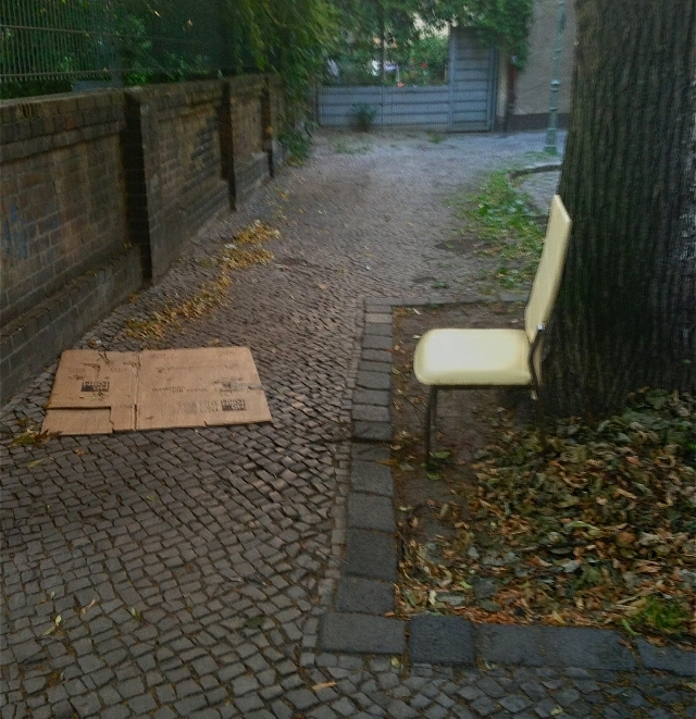 Chair Makes Conversation with Dilapidated Cardboard Box_sm