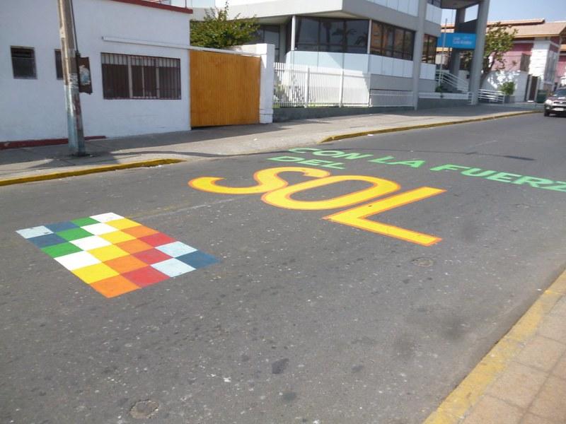 Pretty street of Arica