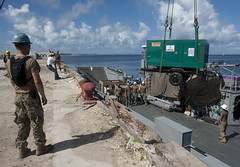 EBEYE, Marshall Islands (July 7, 2013) U.S. Navy Sailors