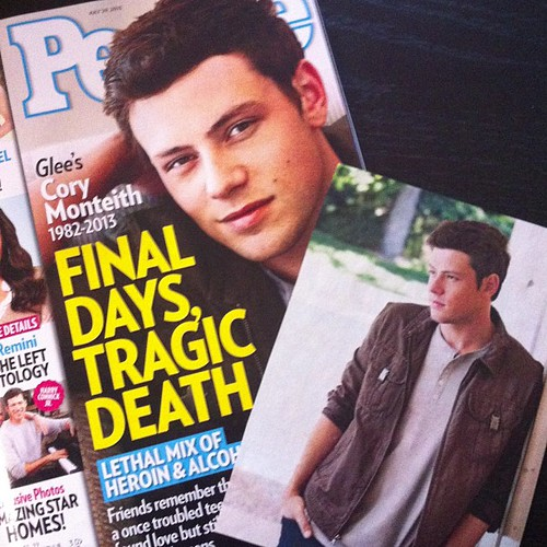 Grieving Cory Monteith and coming clean about addiction
