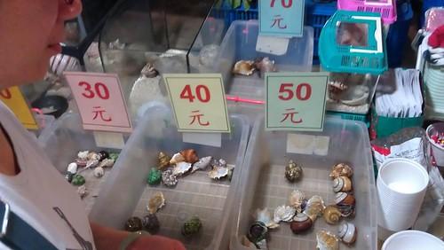 20120413 岡山籮筐會,價格標示得很清楚。