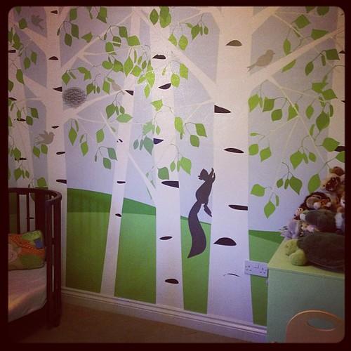 His room is pretty much done. It's gorgeous. #photowall #stokke #veryoldvertbaudet #muchlovedcuddlies #boyroom