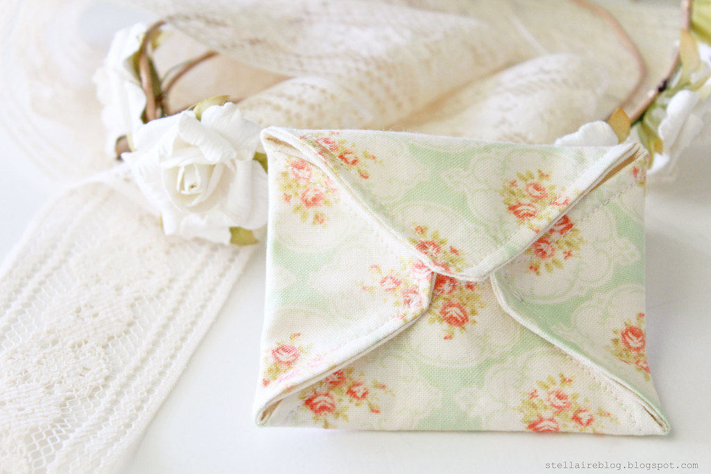 floral fabric envelope