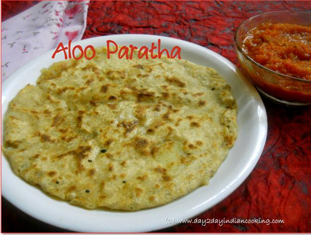 recipe of stuffed paratha made with mashed potatoes and spices