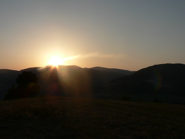 Západ slnka nad štiavnikom