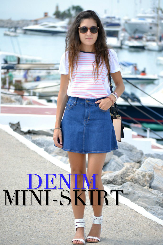 DENIM MINI SKIRT ZARA PORTADA